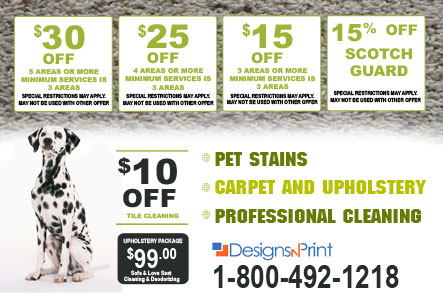 design carpet cleaning postcards