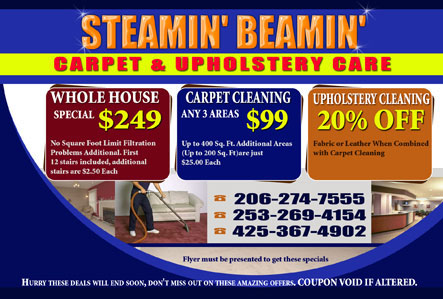 carpet cleaning postcard design