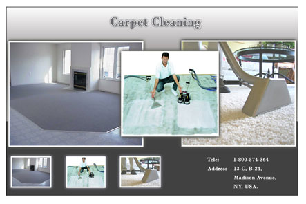 promote carpet cleaning postcard business