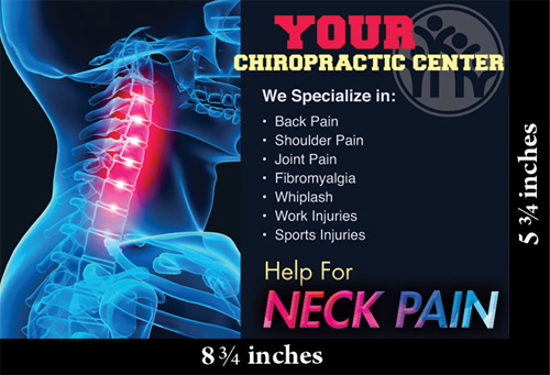 chiropractic postcard template