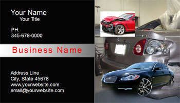 auto body repair business cards