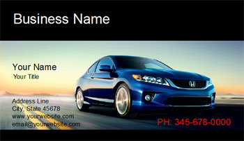 auto sale business cards