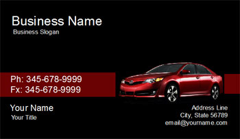 car salesman business card