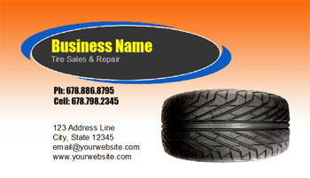 wheels business card