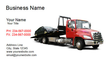 tow truck card