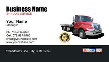 tow truck business card
