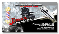 black american barber shop business card