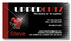 upper cut business card