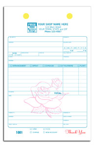 flower shop receipt invoice form