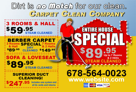 carpet cleaning postcard