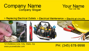electricity business card