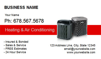 HVAC busines card