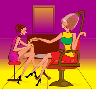 hair salon illustration