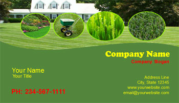 lawn cutting business cards