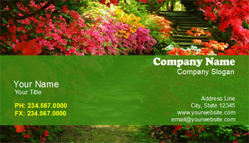 landscaping business cards with garden