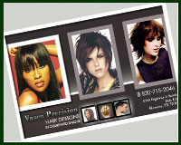 hair salon postcard design