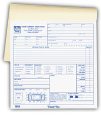 roadside towing invoice booklet