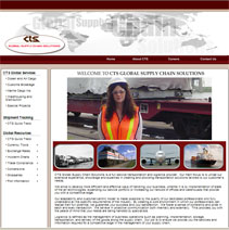 shipping and logistic website design sampe