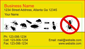 [Image: Pest Control Services Business Card Designs]