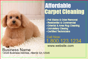 [Image: checkout with Carpet Cleaning Postcard Design]