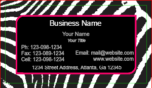 [Image: Animal Print Business Cards]