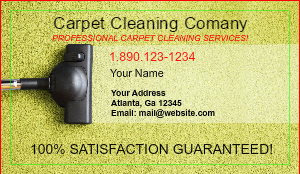 [Image: Rug Cleaning Business cards]