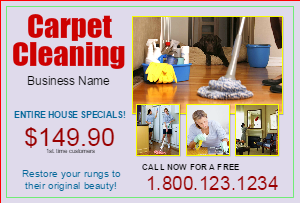 [Image: Cleaning Postcard Marketing]