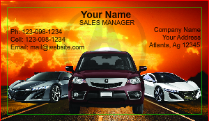 [Image: Acura Car Dealer Business Cards]