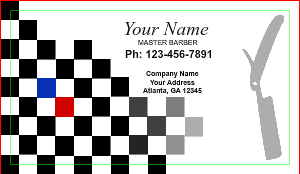 [Image: Custom Barber Business Card Design]