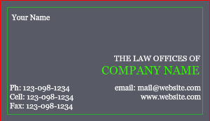 [Image: Law Office Business Card]