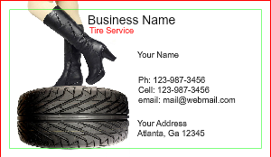 [Image: Tire shop Business card Template]