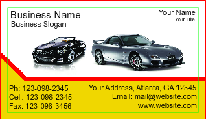 [Image: Auto Sales Business Card Template]