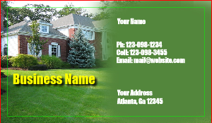 [Image: Lawncare Business Card]
