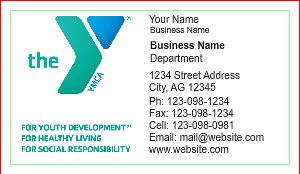 [Image: YMCA Business Card Template]