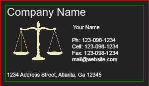 [Image: Legal Business Card Template]