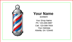 [Image: Basic Barber Business Card Template]