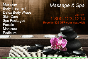 [Image: checkout with Spa Flyer Marketing]