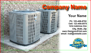 [Image: Air conditioning Business Card Template]