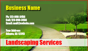 [Image: Landscaping Business Card Design]