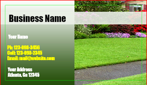 [Image: Custom Lawn Care Business Cards]