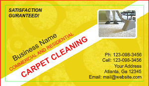carpet cleaning business cards designsnprint