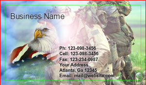 [Image: Military Business card]
