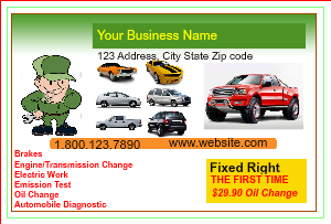 [Image: checkout with Auto Repair Postcard Template]