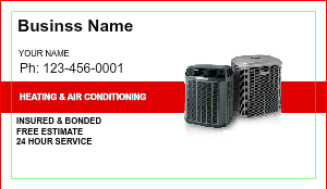 [Image: Heating & Air Business Cards]