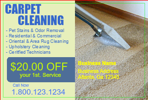 [Image: Carpet Cleaning Direct Mail Postcard]