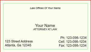 [Image: Modern Law Office Double-Sided Standard Business Card]