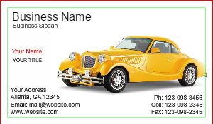 [Image: Auto Sales Business Card]