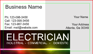 Electrician Business Card Designs Designsnprint