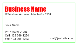 [Image: Contractor Business Card Design]