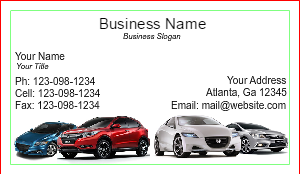 [Image: Honda Corporate Business Card Design]